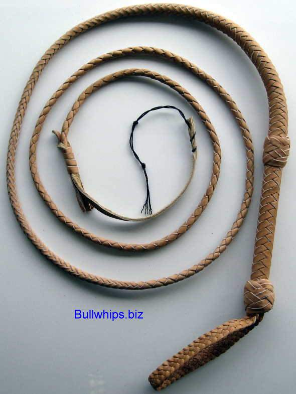 Bullwhip 8 Plait Tan End Loop Indy